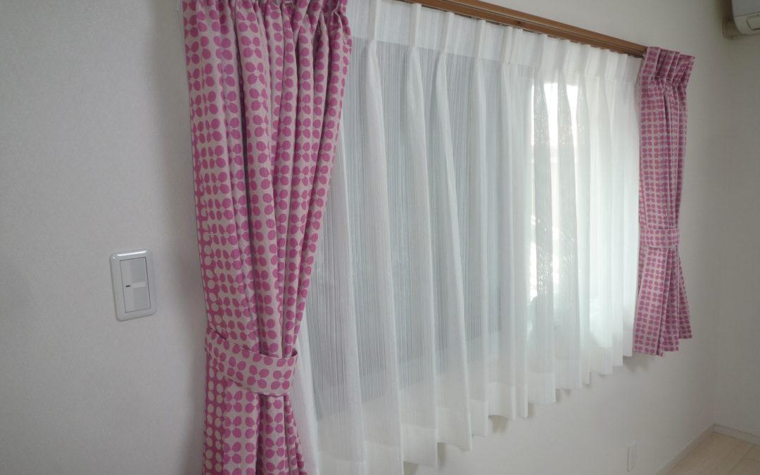 2F書斎にカーテンを